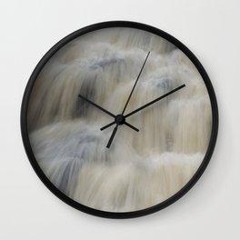 Waterfull in Winter Wall Clock