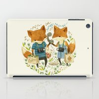 book iPad Cases featuring Fox Friends by Teagan White