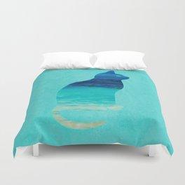 SEA CAT Duvet Cover