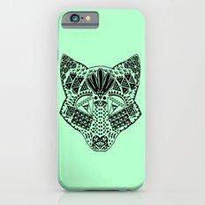 Mint Wolf Head iPhone 6 Slim Case
