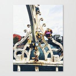 Love Locks on the Ha'penny Bridge Canvas Print