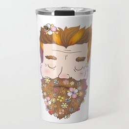 Flower beard Travel Mug