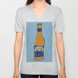 Bud Light Bottle Unisex V-Neck