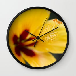 Boreas Tropical Hibiscus Lemon Drop Wall Clock