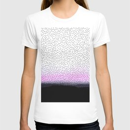 dots on pink view T-shirt