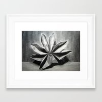 origami Framed Art Prints featuring ORIGAMI by The Traveling Catburys