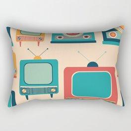 Retro TVs and Radios Rectangular Pillow