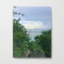 Lush Oceanside of Tulum Metal Print