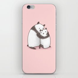 Panda Cuddle iPhone Skin