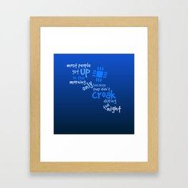 Croak-Blue Framed Art Print