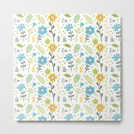 Spring Happy Pattern Metal Print