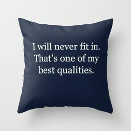 Fit In Throw Pillow
