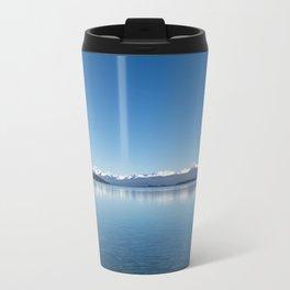 Blue line landscape Metal Travel Mug
