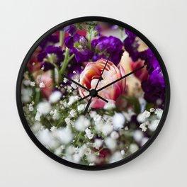 Fresh Flower Lovin' Wall Clock