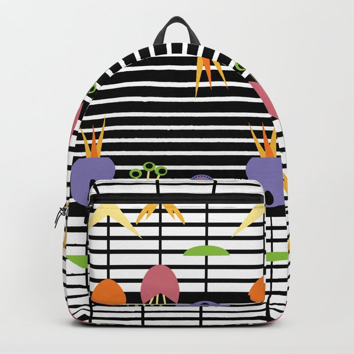 Flowers and Stripes Backpack