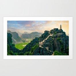 Tam Coc Paddy Fields in Vietnam Fine Art Print  • Travel Photography • Wall Art Art Print