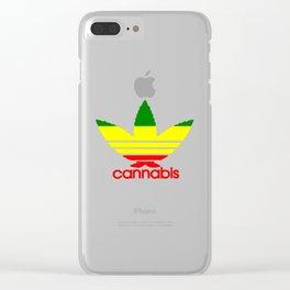 Cannabis Ganja Clear iPhone Case