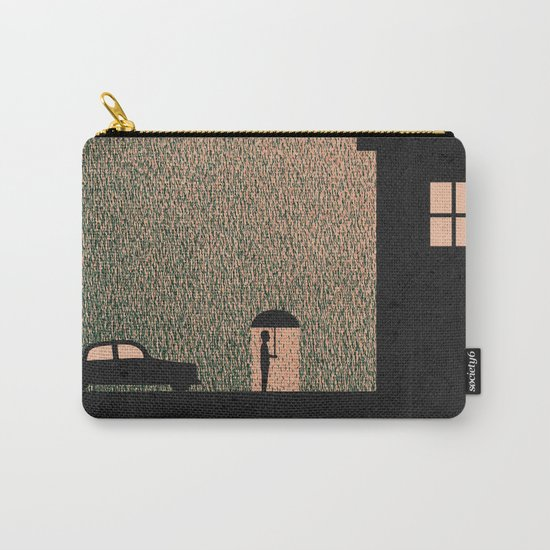 Waiting In The Rain Carry-All Pouch