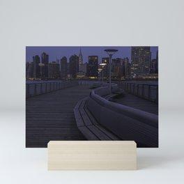 Midtown Manhattan skyline Mini Art Print