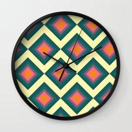 Retro Pattern VII Wall Clock