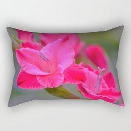 Pretty Pink Gladiolas Rectangular Pillow