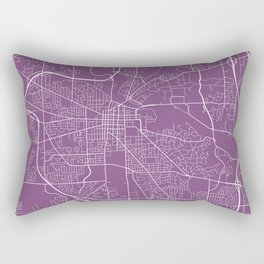 Ann Arbor Map, USA - Purple Rectangular Pillow
