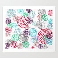 bubbles Art Prints featuring Bubbles by Snehal Jain