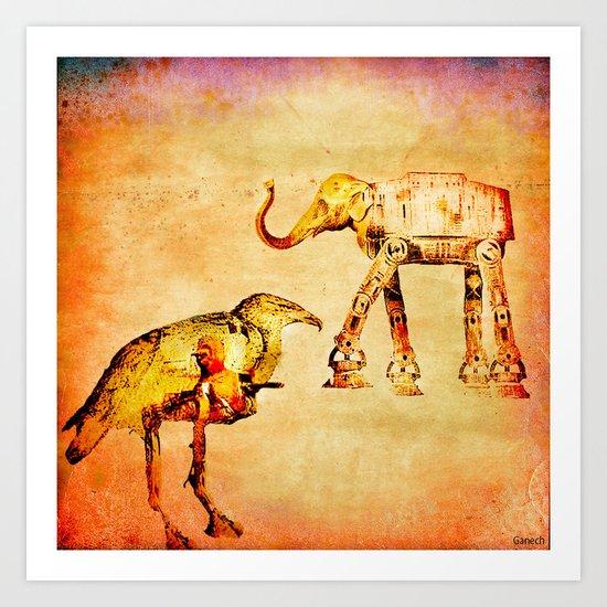 The empire of animals attacks Art Print