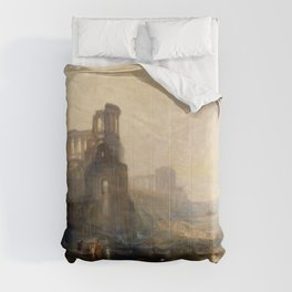 Emperor Palace of Caligra and the bridge - Joseph Mallord William Turner Comforters