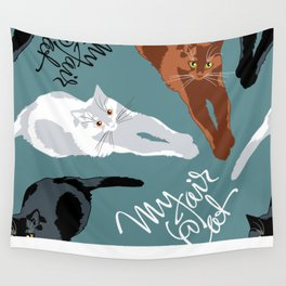 What color is my Cat? Wall Tapestry