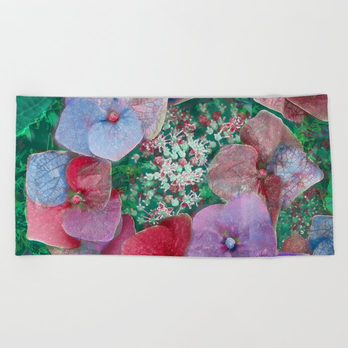Floral abstract 55 Beach Towel