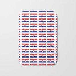 Flag of croatia 2 -croatian, Hrvatska,croat,croacia,Zagreb,split,rijeka,osijek. Bath Mat