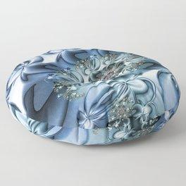 Dynamic Spiral, Abstract Fractal Art Floor Pillow