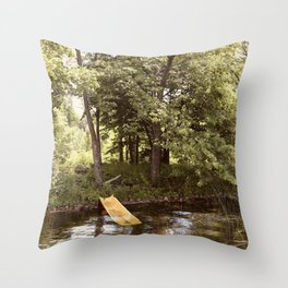 Country Water Park Throw Pillow