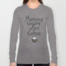 Morning Coffee Cat Long Sleeve T-shirt