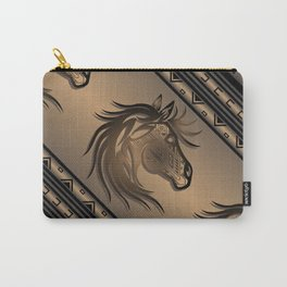 Horse Nation (Brown) Carry-All Pouch