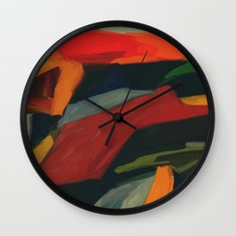 Lessons To Learn Abstract Landscape Wall Clock