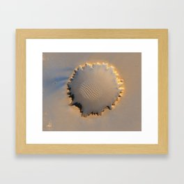 Mars 'Victoria Crater' High Resolution Imaging Framed Art Print
