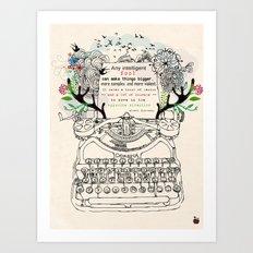 Intelligent Fool Art Print
