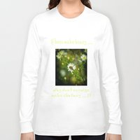 bee Long Sleeve T-shirts featuring Bee  by Rob Hawkins Photography