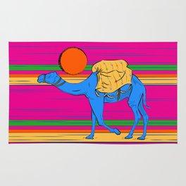 Sunset Camel Trecking Rug