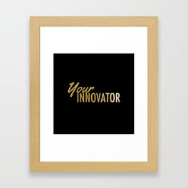Gold Innovator Framed Art Print