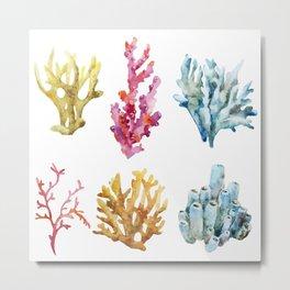 Colorful Chorals Metal Print
