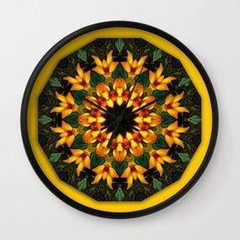 Iris 002.2, Nature Flower Mandala, Floral mandala-style Wall Clock