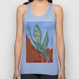 Fire Breathing Dragon Unisex Tank Top
