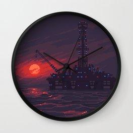 Oil rig Wall Clock
