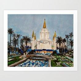 Oakland California LDS Temple Dusk Art Print