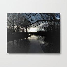 Sunset over Bruges Metal Print