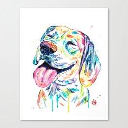 Beagle Painting Canvas Print