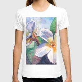 Tropical Plumeria Flowers T-shirt